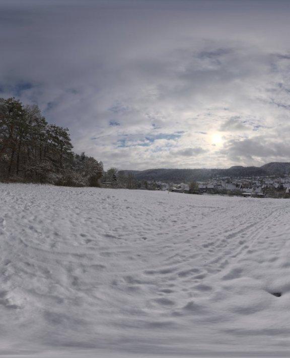 Snowy Hillside HDRI
