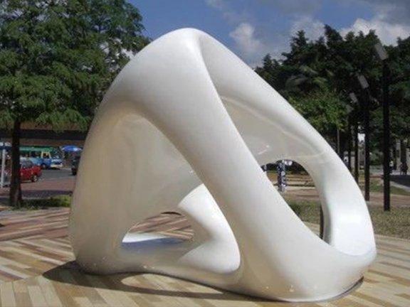 SketchUp草图大师创建景观异形Wirl雕塑