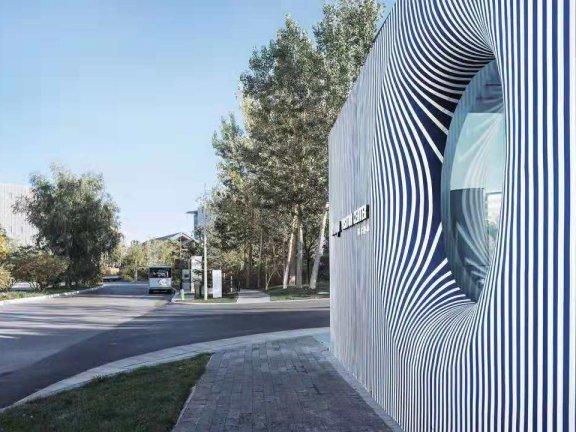 SketchUp草图大师创建景观条形造型景墙