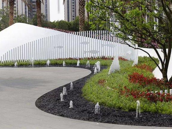 SketchUp草图大师创建景观弯曲创意景墙