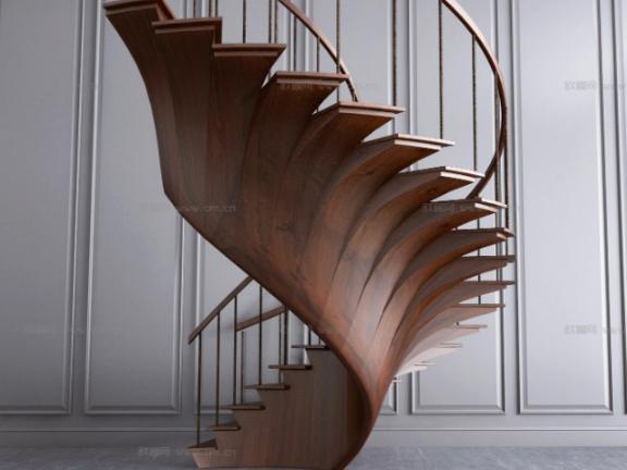 SketchUp草图大师创建室内旋转楼梯04